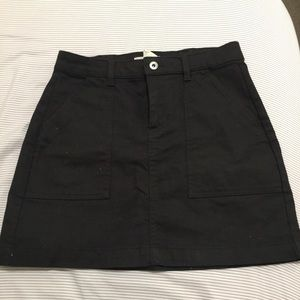H&M black mini denim skirt